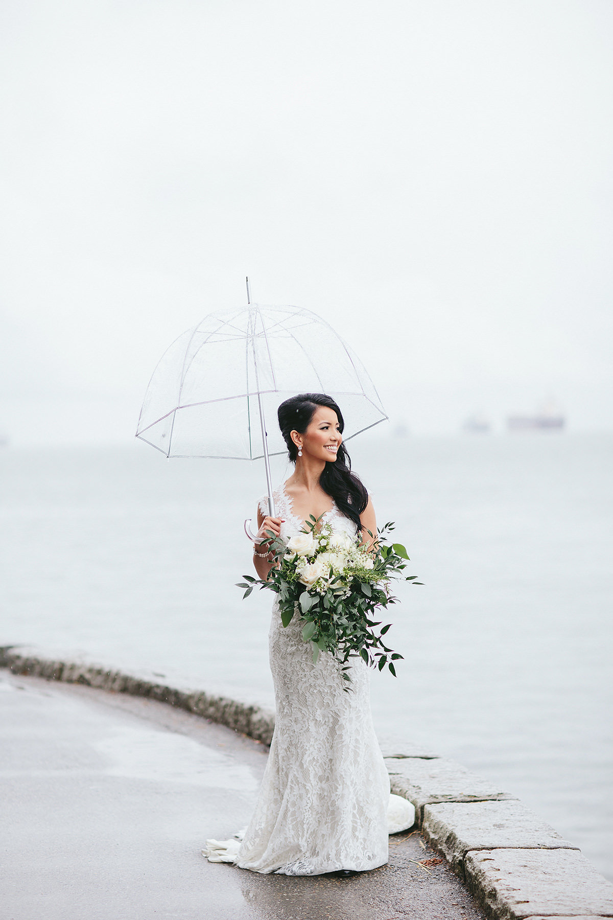 Vancouver Rain, Vancouver Bride featring Jewelry by Elsa Corsi