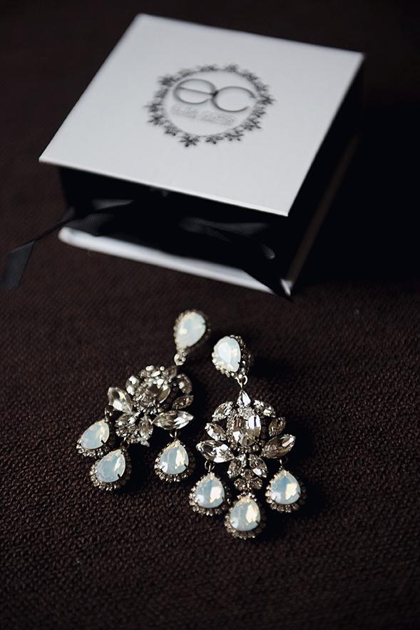Chandelier Wedding Earrings bu Elsa Corsi