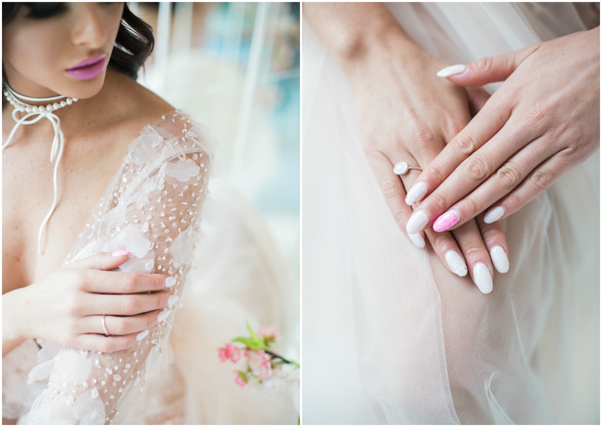 Cherry Blossom Inspired Nails Vancouver, Prep Beauty. Denise Lin, Elsa Corsi