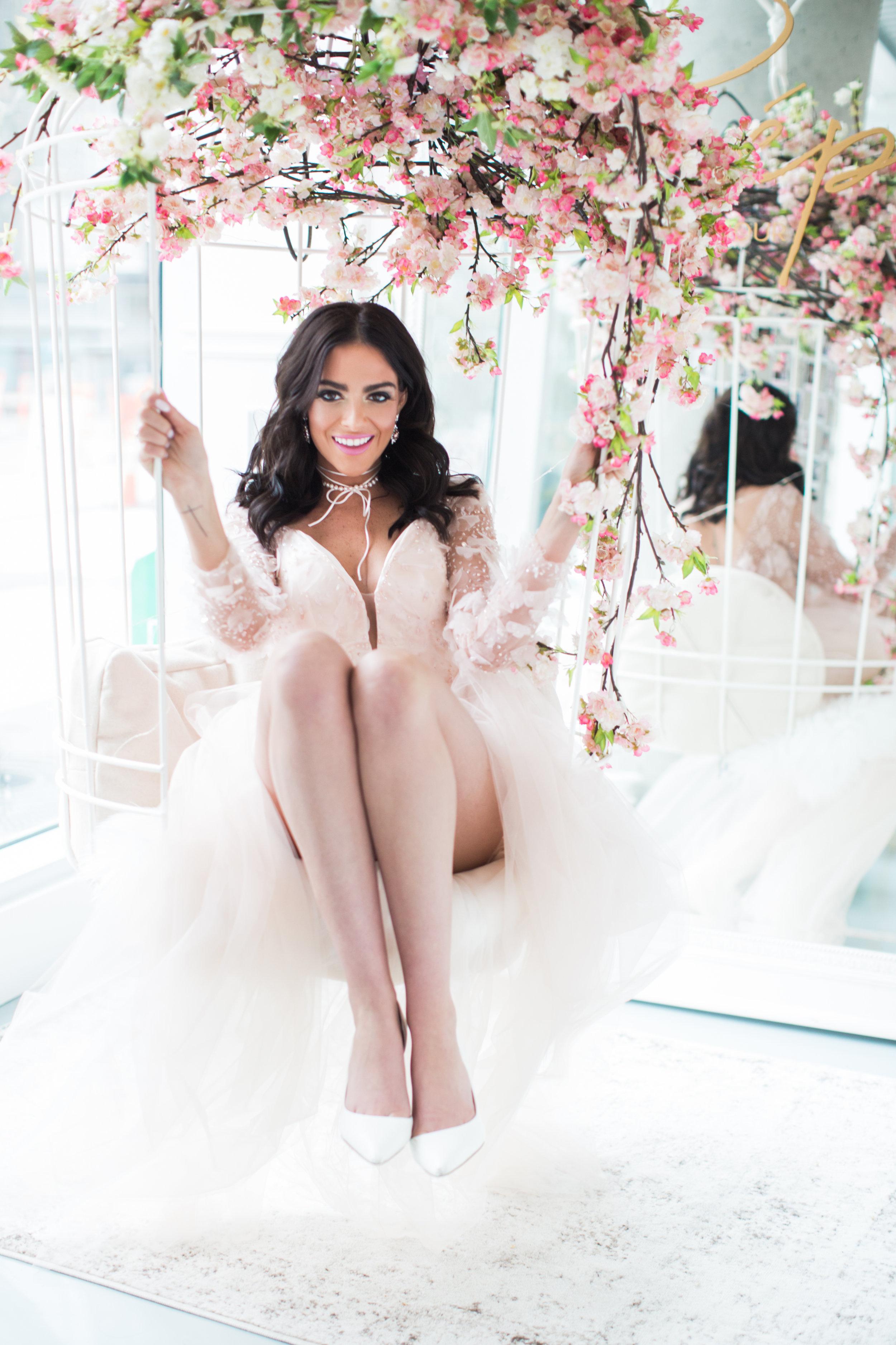 Cherry Blossom Inspired Photoshoot Vancouver, Denise Lin, Elsa Corsi