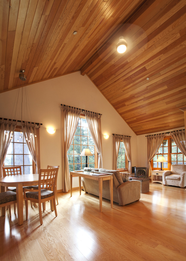 shared living room in cottage at ratna ling