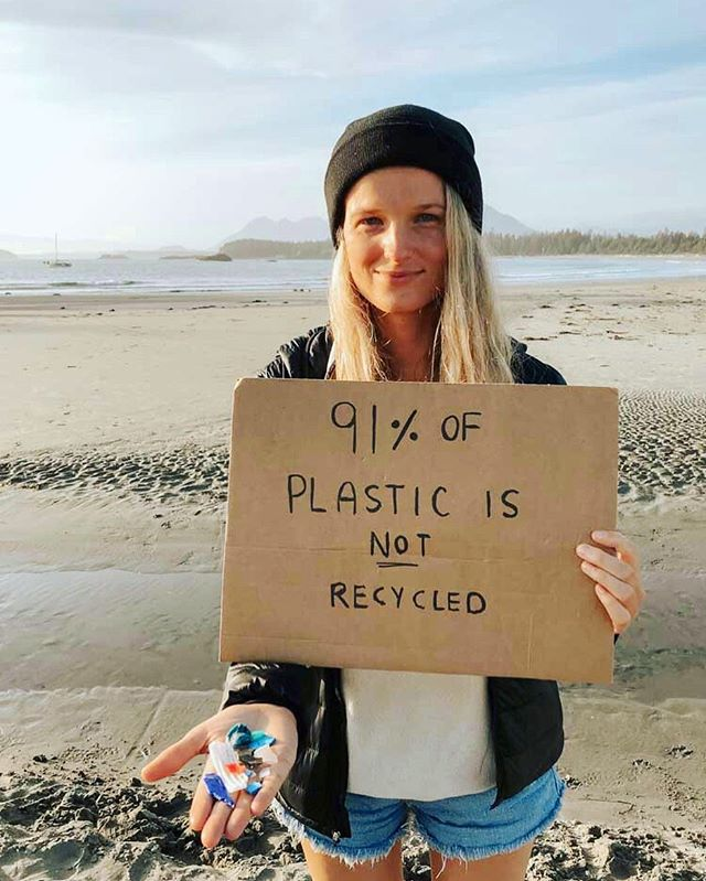 Hey! Its Olivia from @pinchofom on one of Canada's remote coastal  communities, Tofino BC. 🌊🌲 Globally 91% of plastic is NOT recycled as many countries ship plastic abroad for processing where a lot of it is dumped or burned as most plastics are not economically viable or easy to recycle. It's estimated each year 18 billion pounds of plastic enter our world's oceans in the form of litter and mismanaged. Remote & almost untouched coastlines like here give insight on the volume of plastic debris circling the globe. 🌏  So, what can we do to solve the plastic pollution crisis? 1️⃣ Individual action: We can stop contributing to this issue by addressing our throwaway culture & reducing our personal plastic usage.🚯 Bulk shop with reusable containers to avoid plastic packaging & opt for reusable products like to-go mugs, water-bottles, bags, cutlery, containers & straws versus single-use products. 2️⃣ Government Leadership & Industry: Voice your concerns to your local representatives and ask them to release strategies for combating plastic pollution. 💌 Governments must ban plastics that are hard to recycle. It is currently cheaper for industry to use virgin plastic than recycled plastic for packaging and this needs to change. Industry must transition to more sustainable packaging systems ♻️ #5gyres