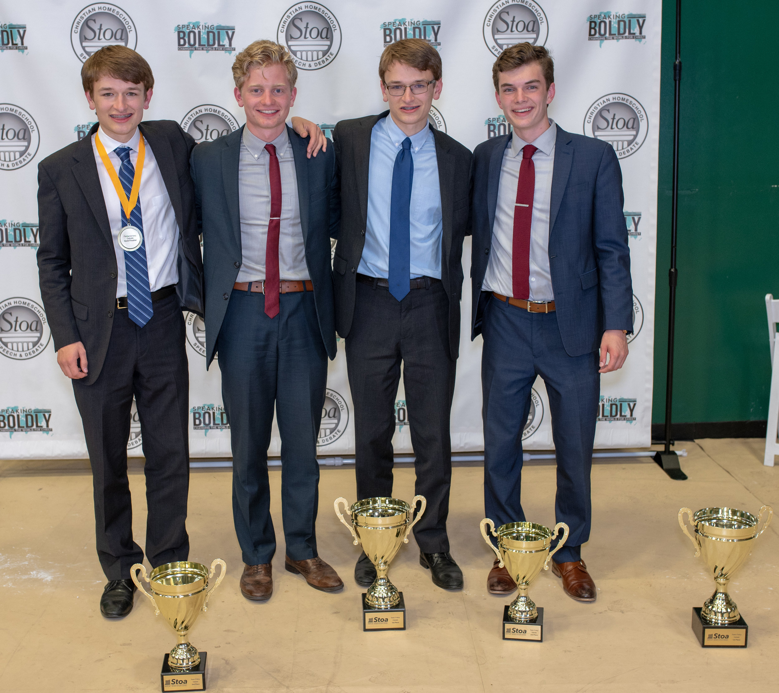 Sam Wooddell and his partner Jeffrey Pistor (red tie) won the National Championship at NITOC 2018.