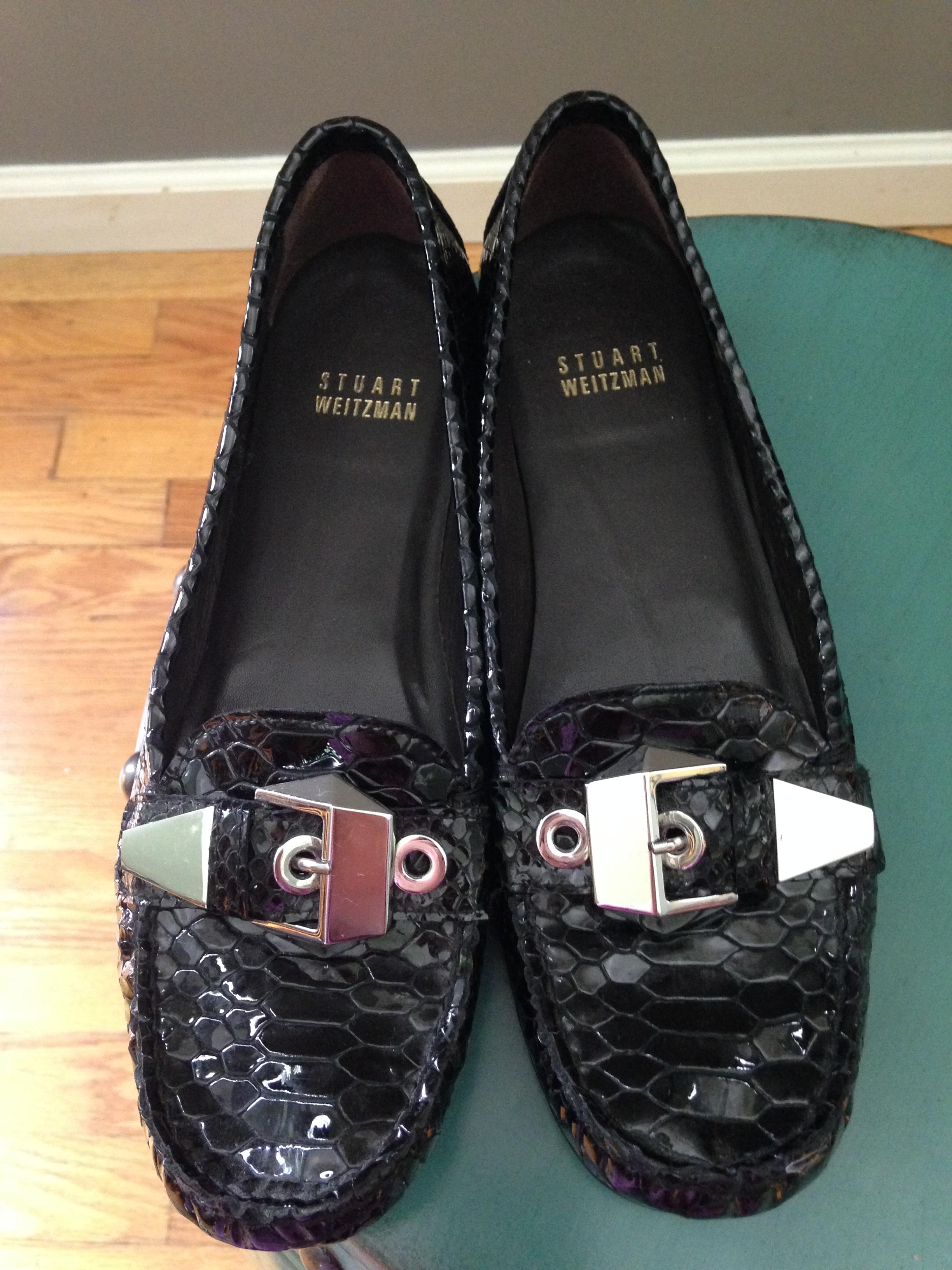 retro Stuart Weitzman black loafers