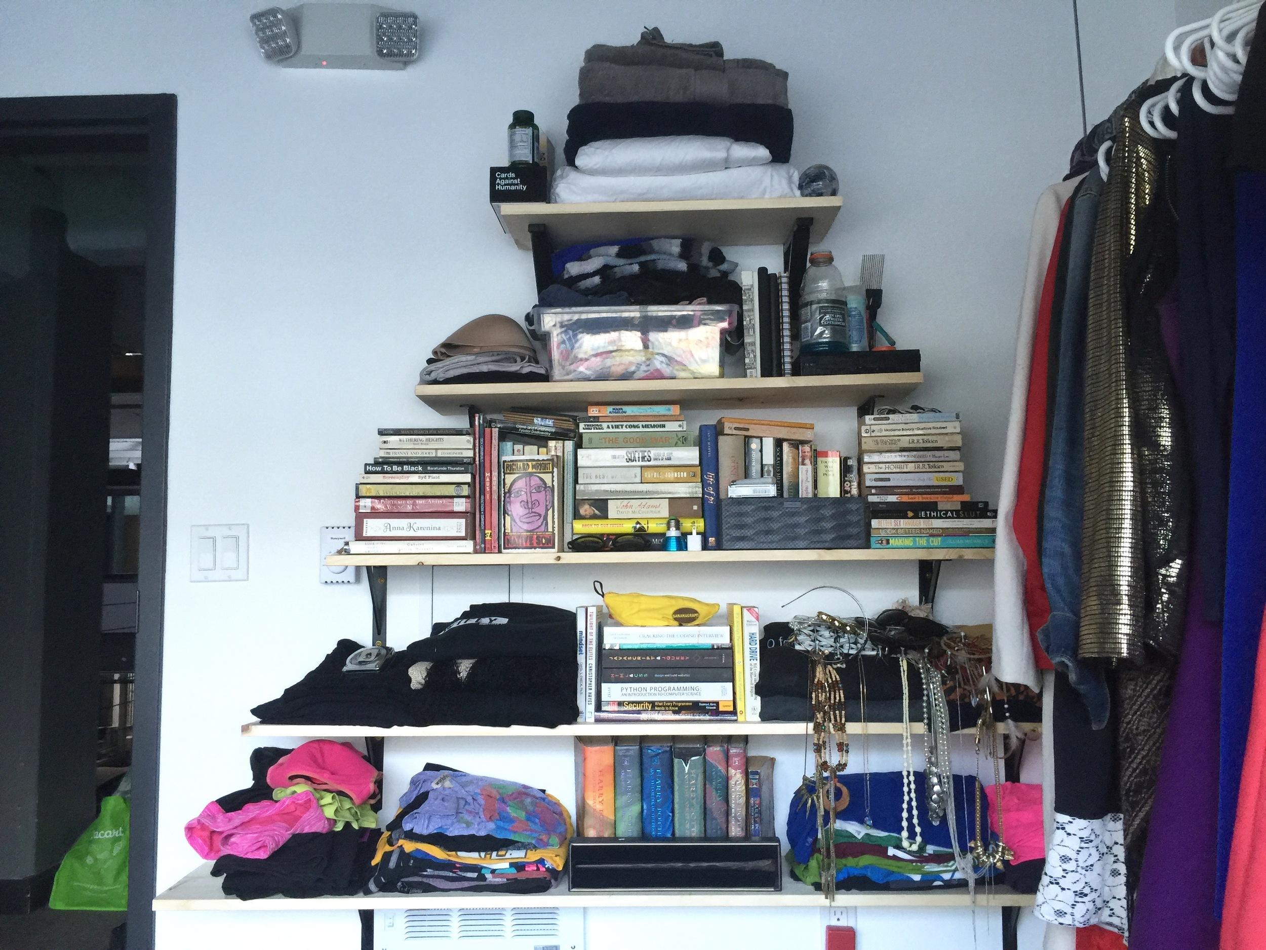 Filled shelves