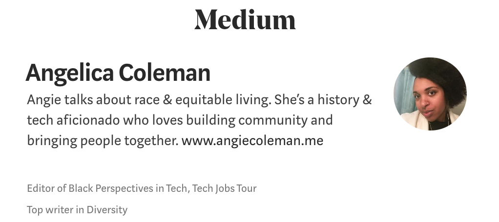 All past and current writing can be found on  Medium .