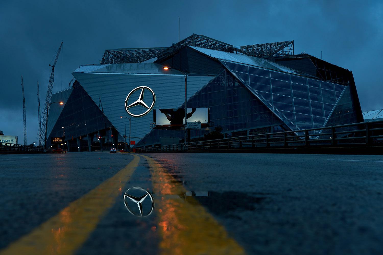 atlanta commercial photography mercedes benz stadium