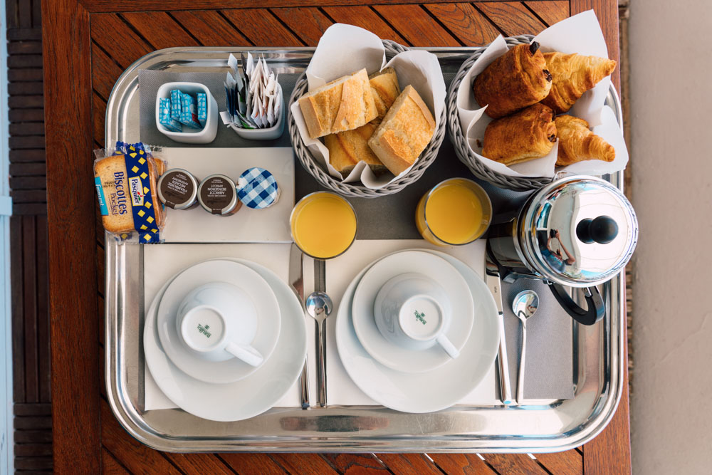 We were even served breakfast on our balcony overlooking the water front.