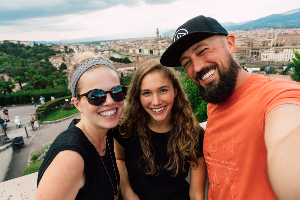 We visited our friend, Jess, who was living in Florence on our way to Rome.