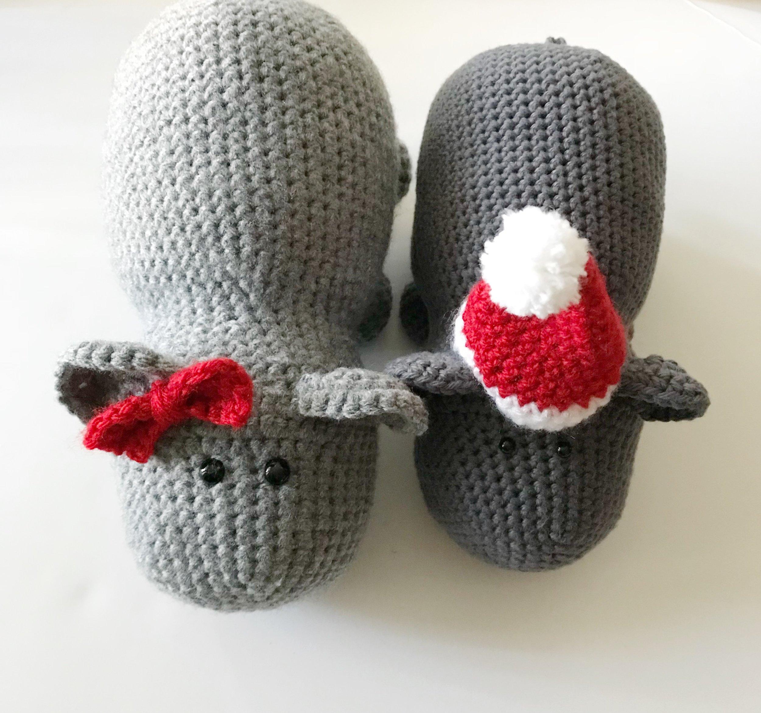 Hippo in Swimsuit Free Crochet Pattern | 937x1000