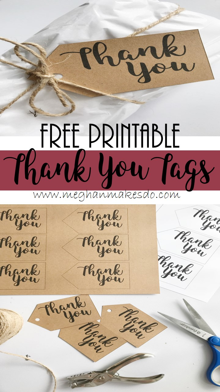 photo relating to Free Printable Thank You named Cost-free Printable Thank On your own Tags Meghan Creates Do
