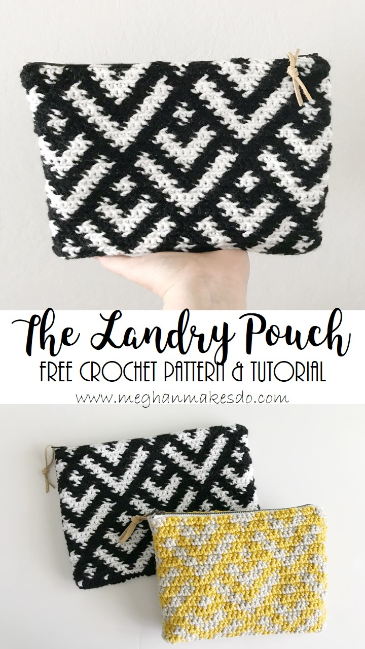photograph regarding Free Printable Crochet Patterns titled The Landry Pouch-Totally free Crochet Practice Meghan Would make Do