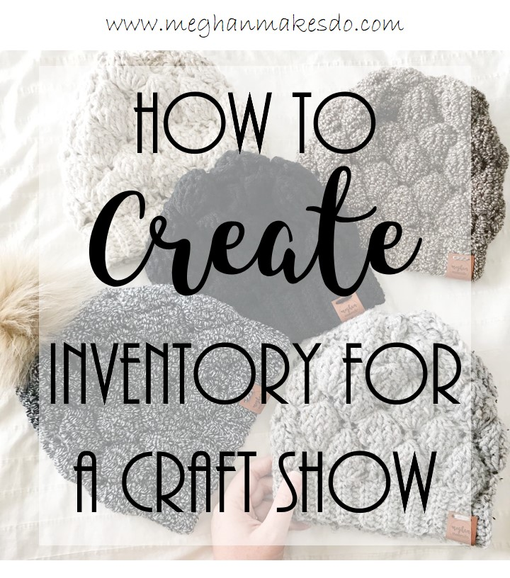 how to create inventory for a craft show