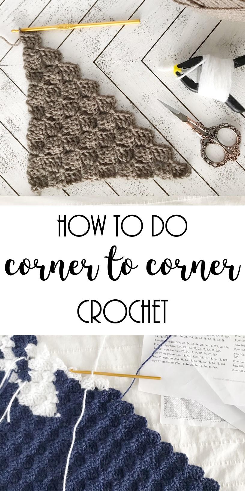 how to corner to corner crochet
