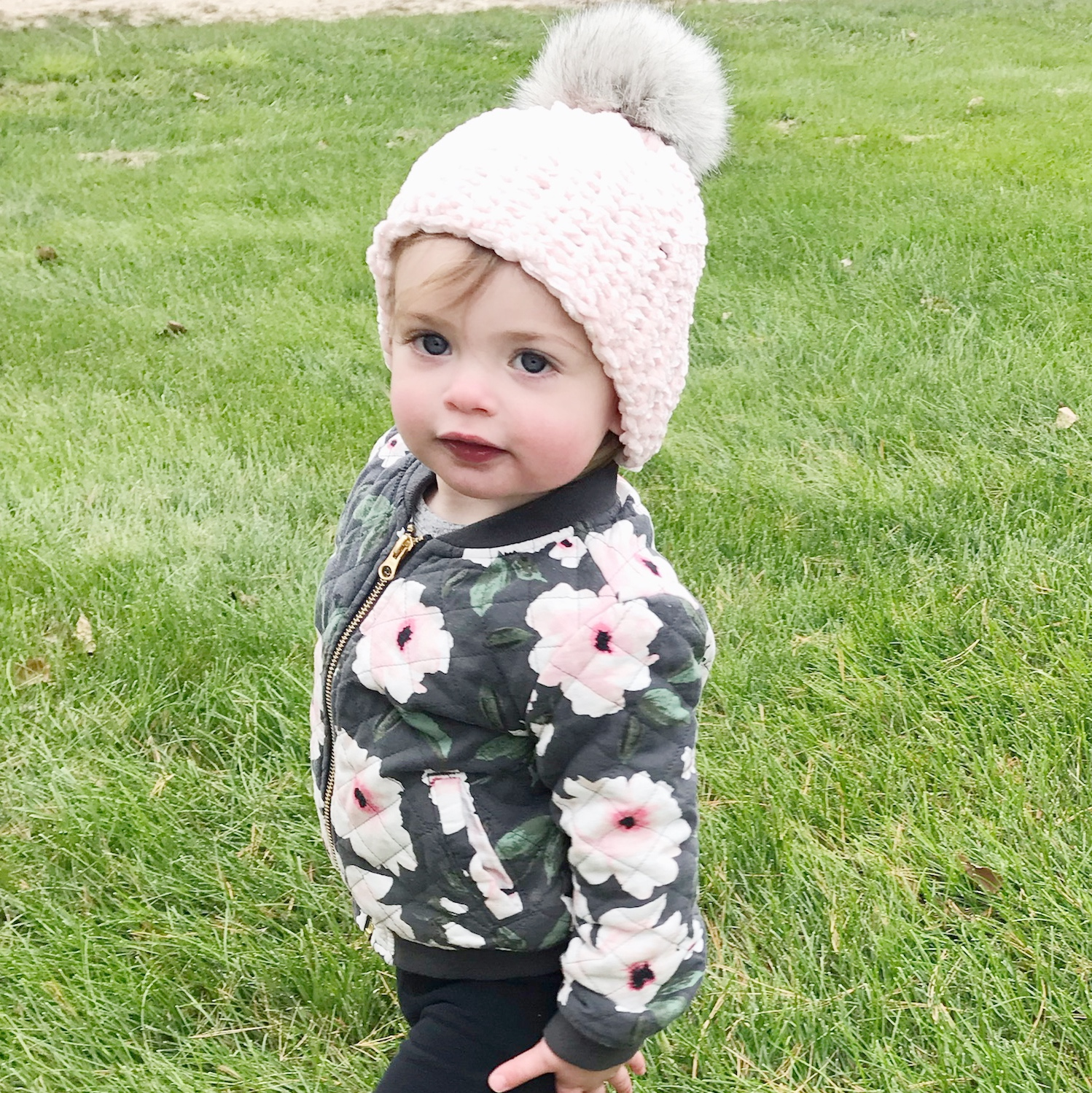 The Lucy Beanie was named after this little cutie, my niece!