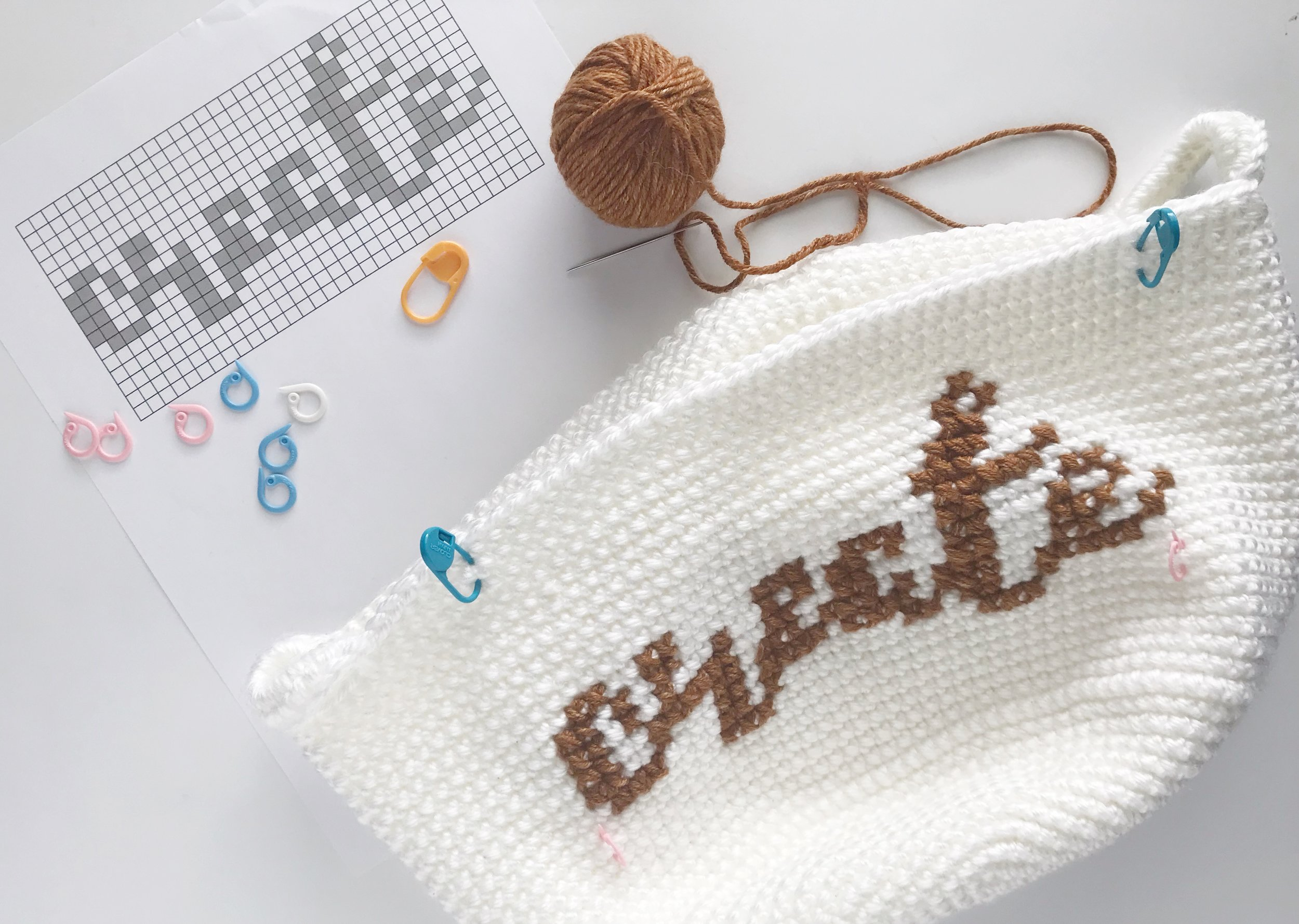 cross stitch on crochet tutorial