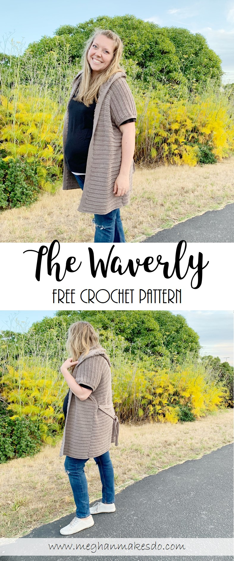 The Waverly Hooded Cardigan Free Crochet Pattern Meghan Makes Do