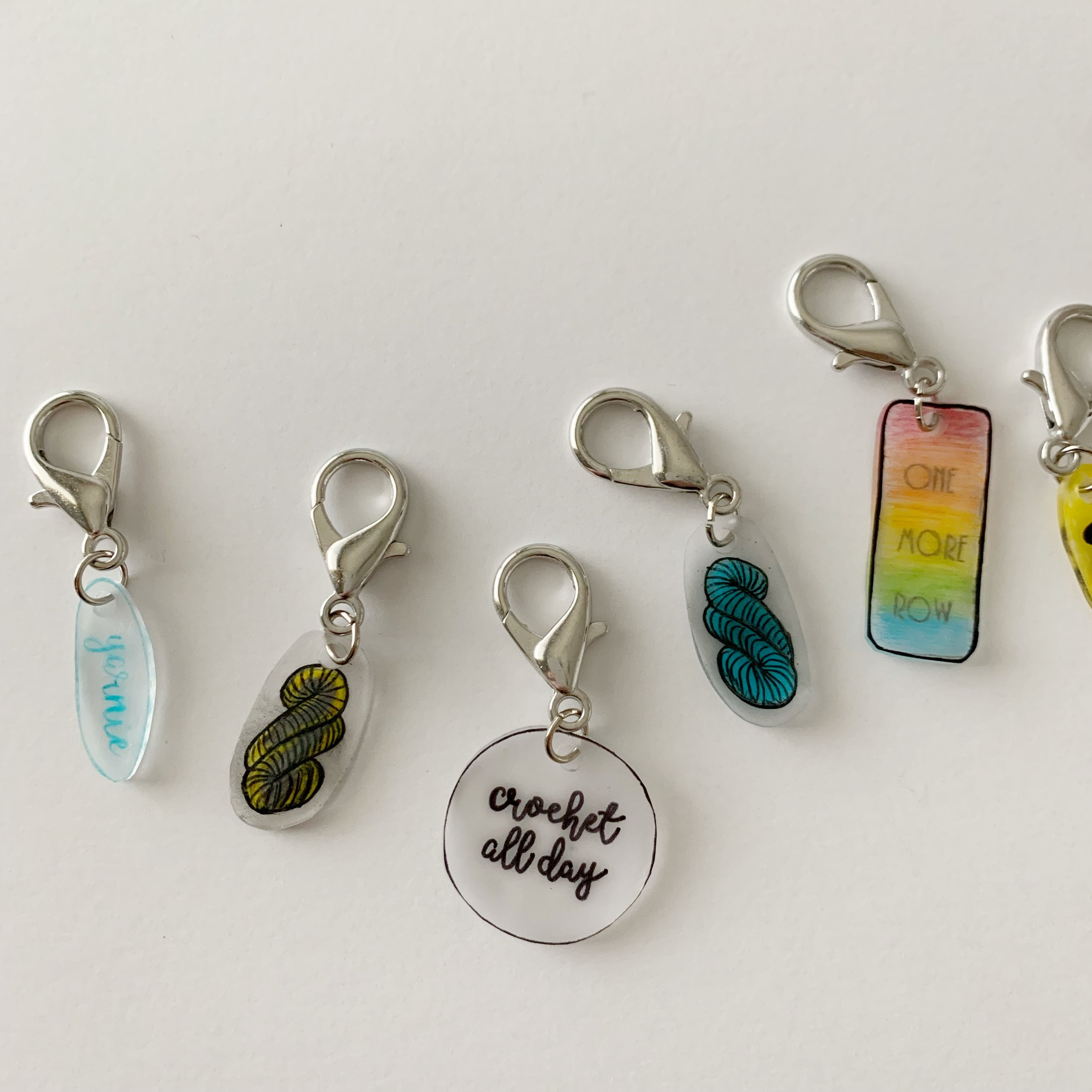 shrink art stitch marker tutorial