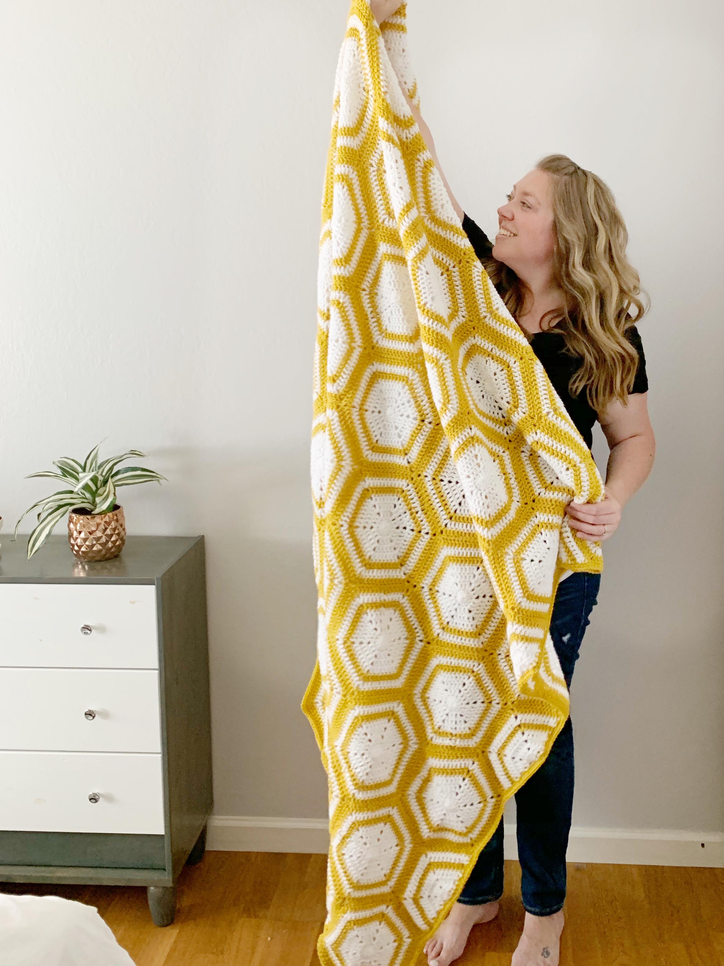 the winnie blanket free crochet pattern
