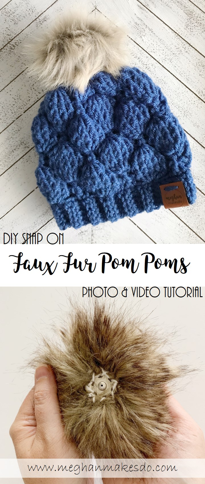 diy snap on pom poms