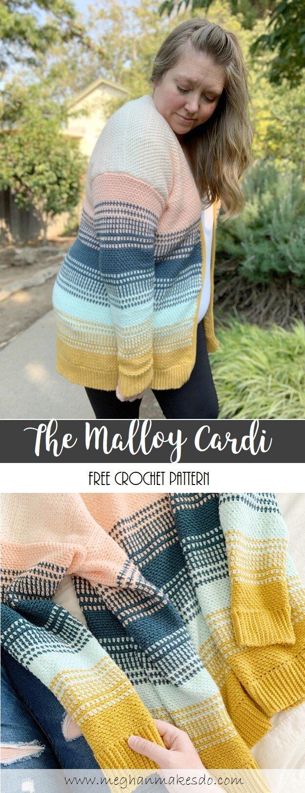 The Malloy Cardi Free Crochet Pattern Meghan Makes Do