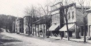 Main Street Hawley at the turn of the century