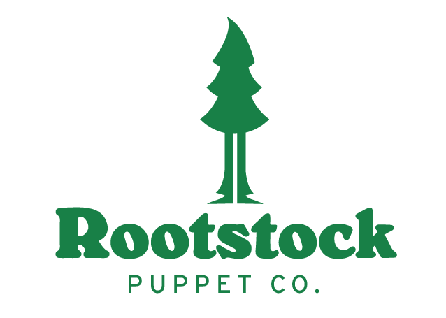 The brand new logo for Rootstock Puppet Co!