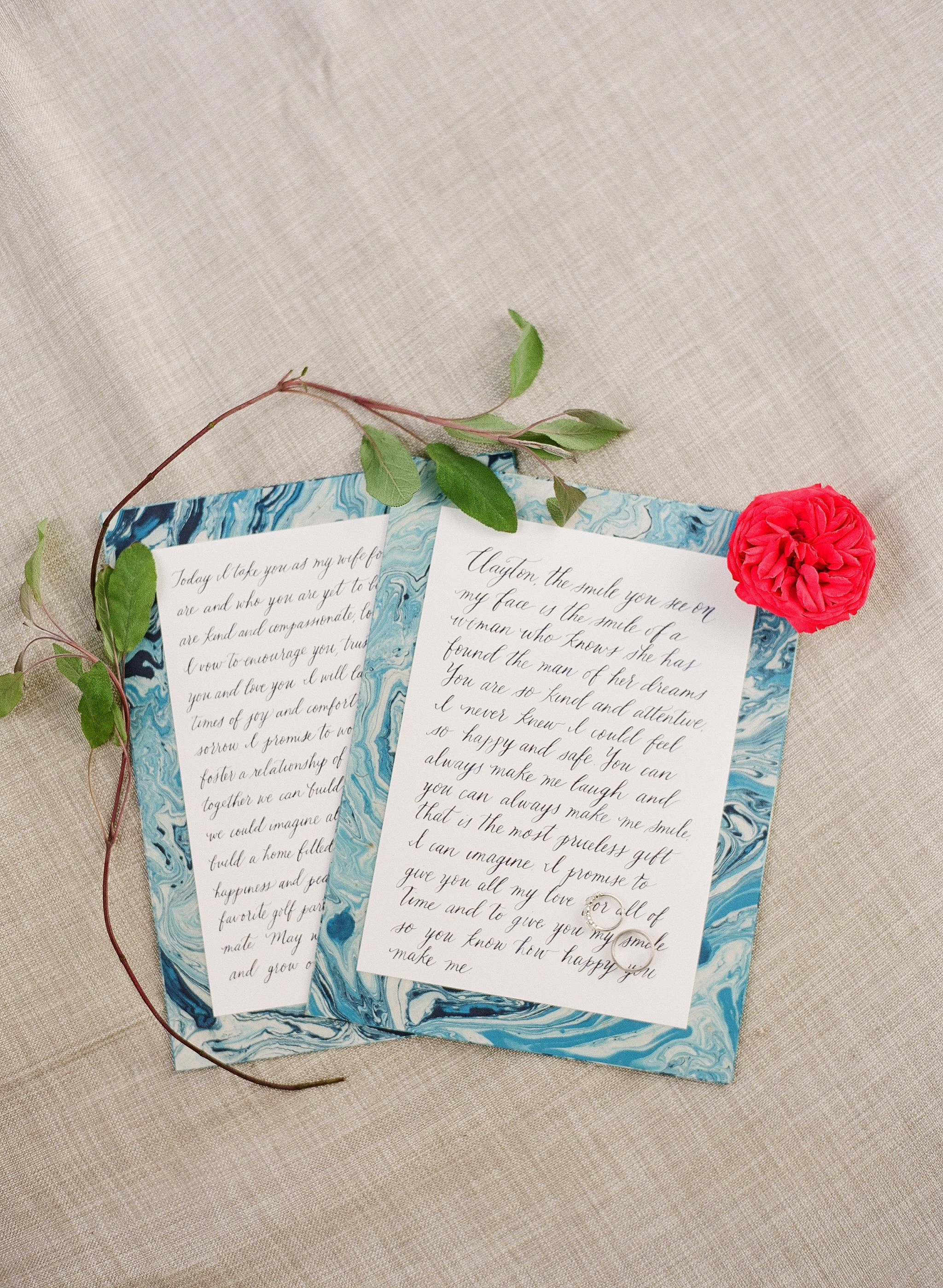 Santa Barbara Wedding Calligraphy