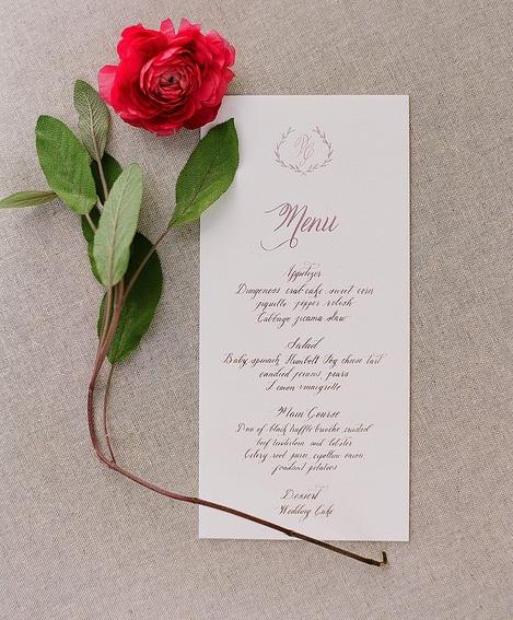 California Wedding Calligrapher