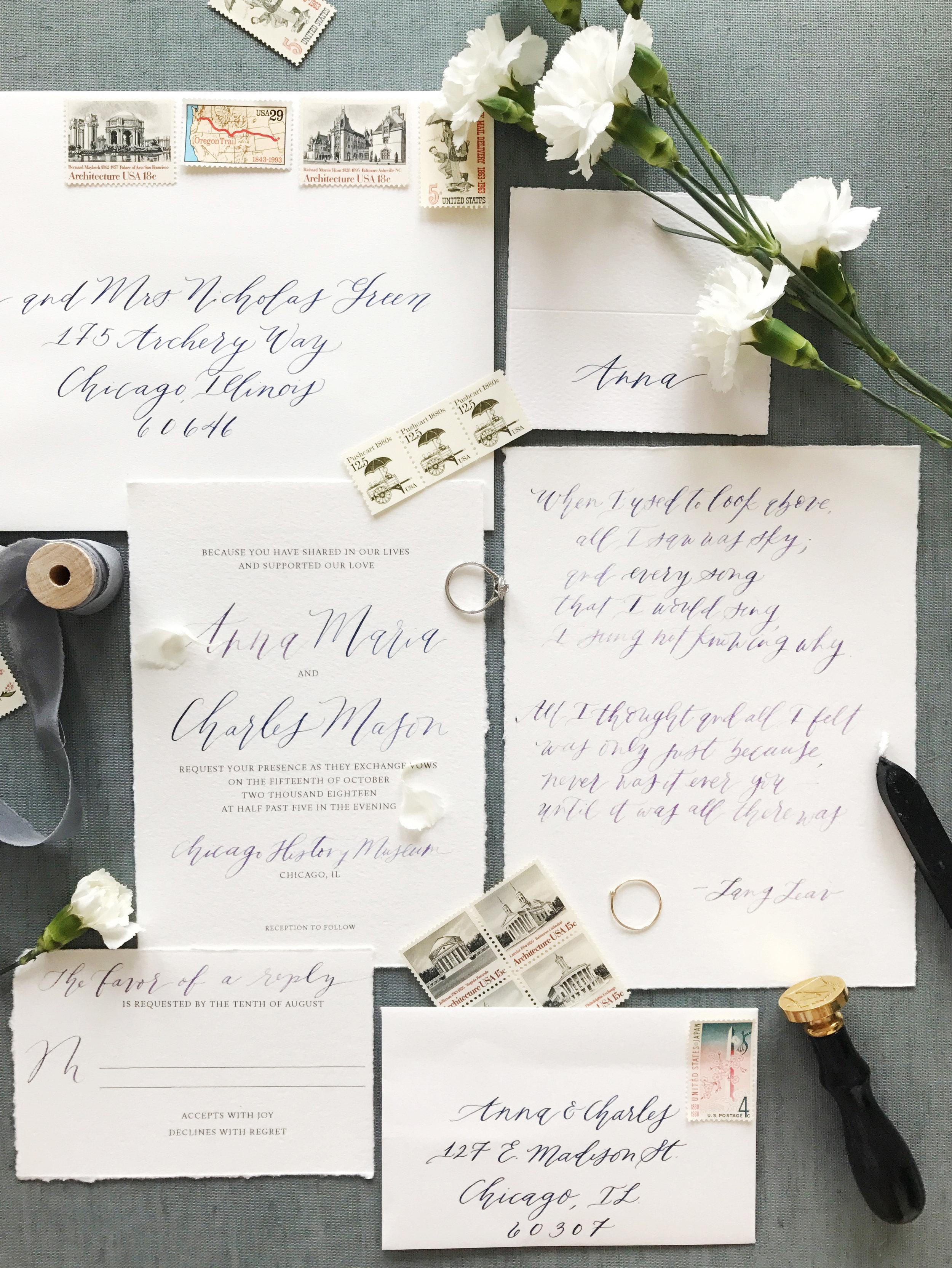 calligraphyinvitationsuite