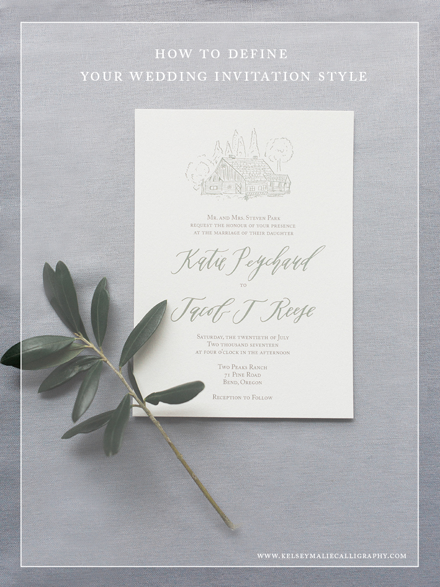 how to determine your wedding invitation style