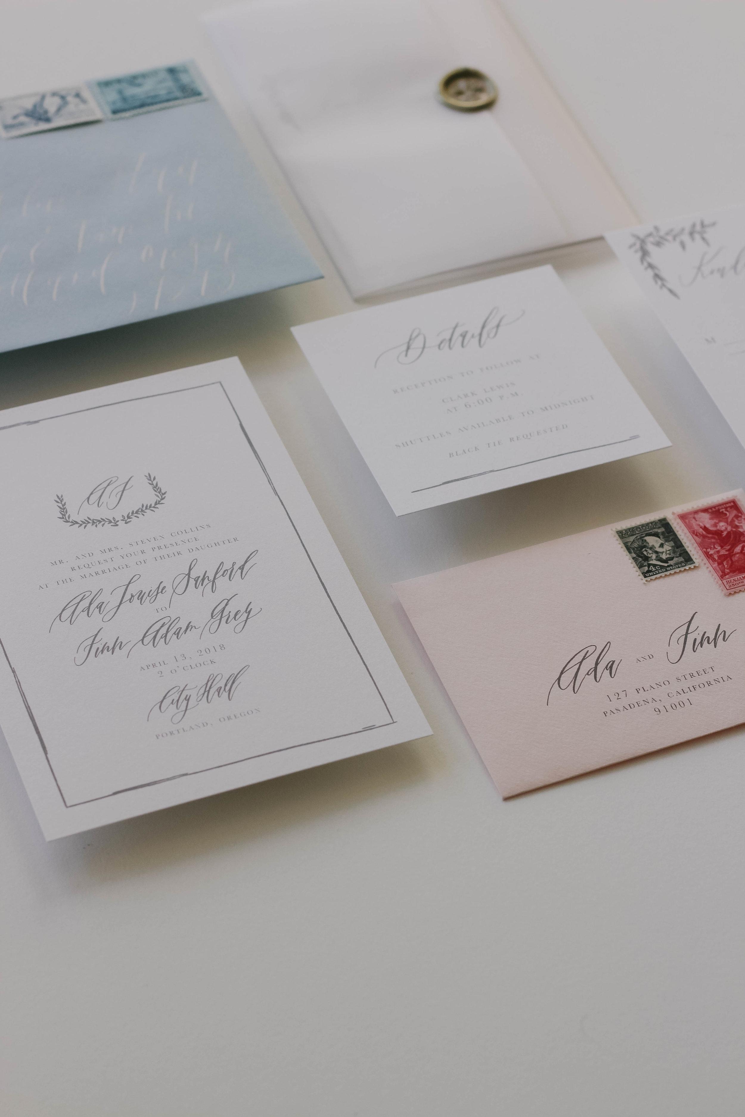 Latourell - A modern invitation suite