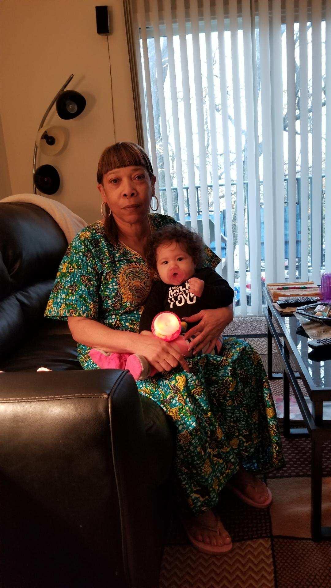 Debra is seen here with her granddaughter.