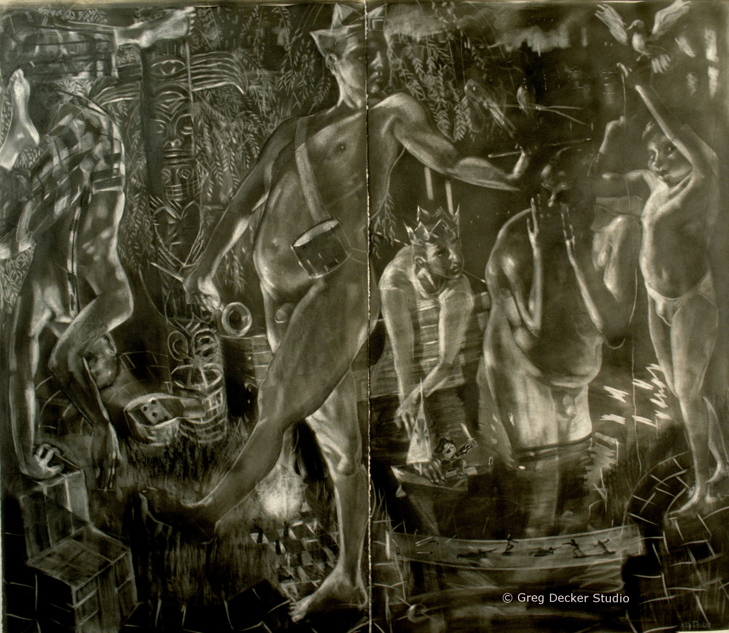 The Witching Hour (diptych)