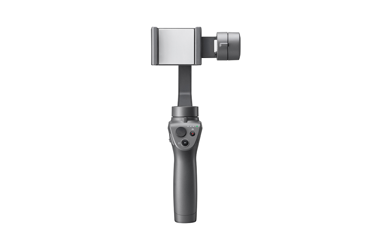 Osmo Mobile  Osmo Mobile turns your smartphone into a smart motion camera, making every moment you shoot look smooth, professional and ready to share. Shoot cinematic videos anytime, or use its intelligent functions to track your subject, capture stunning motion timelapses or even stream a moment live around the globe. Two colors are available: Classic Black and Silver, so your Osmo Mobile can match your style.