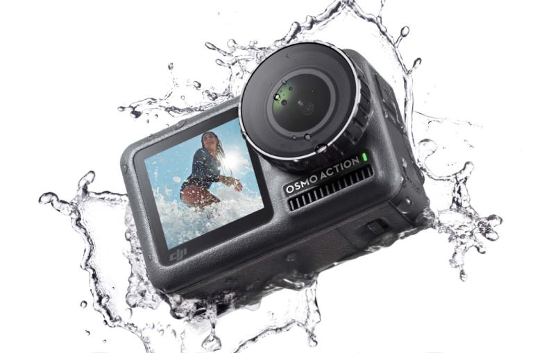 Osmo Action  The world's firstactioncamera featuring a front screen dedicated for capturing selfies. Shoot super-smooth footage in 4K and control the camera hands-free with voice commands. 4K HDR Video. 4K/60fps. Dual Screens. Waterproof (11m) RockSteady. 8x Slow Motion.