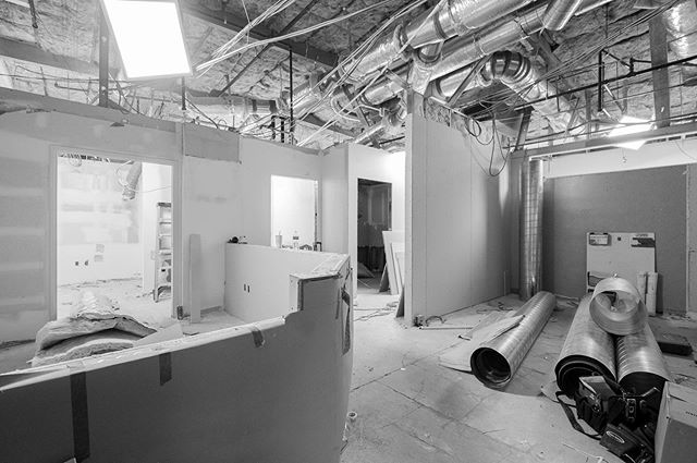 Post 4 of 4: Just 8 days into our super fast remodel for Koett & Olson Family Dentistry, drywall is going in!  #dentaldesign #dentalconstruction #officeconstruction #tenantimprovement #superteam @rbndesign @adec @burkhartdentalsocal  @Koettolsondental