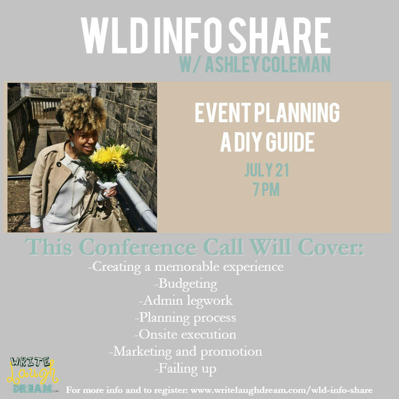 WLD Info Share Event Planning