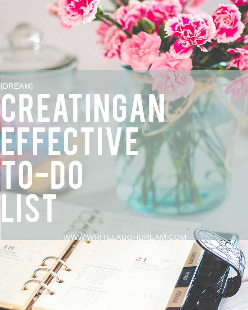 Creating an effective to-do list