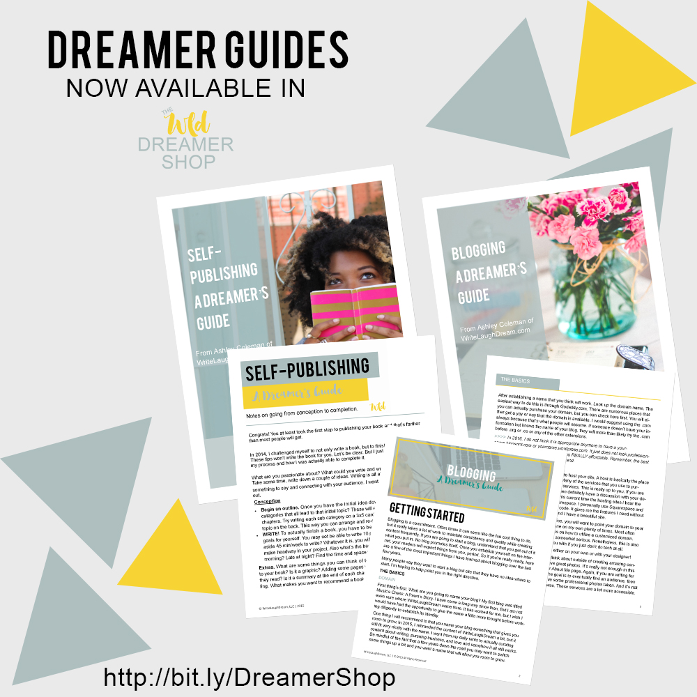 Dreamer Guides on Blogging and Self-Publishing