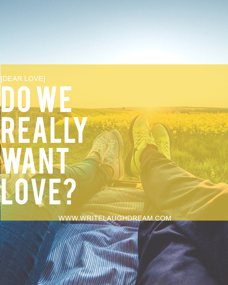 Do We Really Want Love?