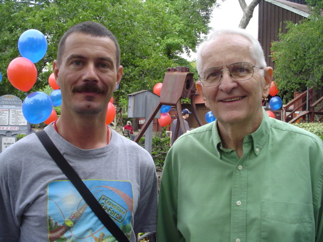Me and Ron Toomer at the 40th anniversary of Run-a-way Mine Train at Six Flags Over Texas, 2006