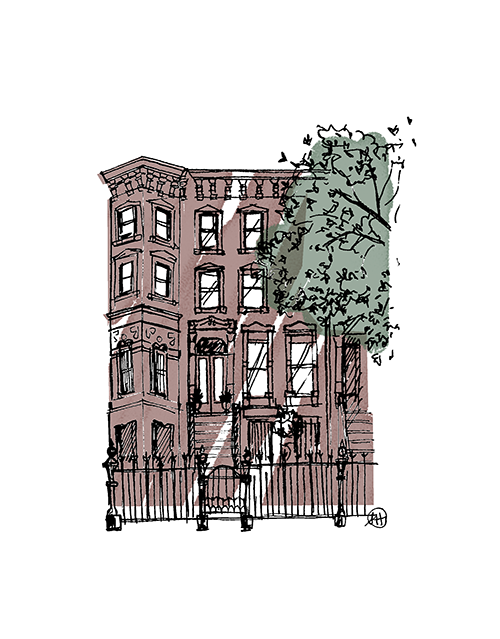 """Bedstuy Brownstone"" Print - commissioned artwork"