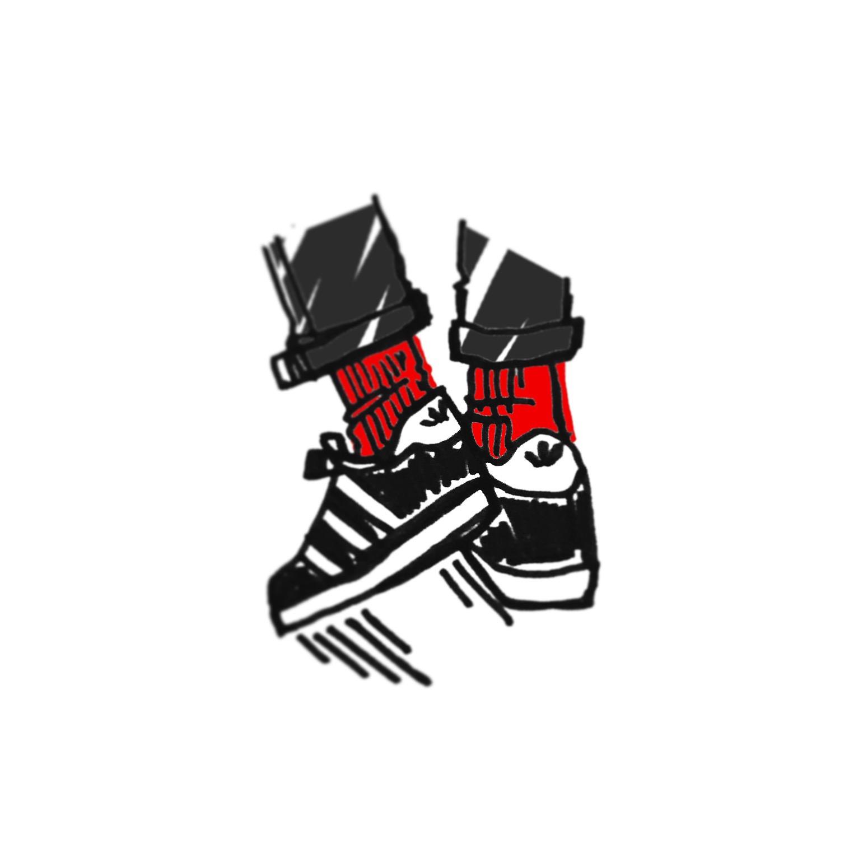 """Red Socks and Gazelles"" Print"