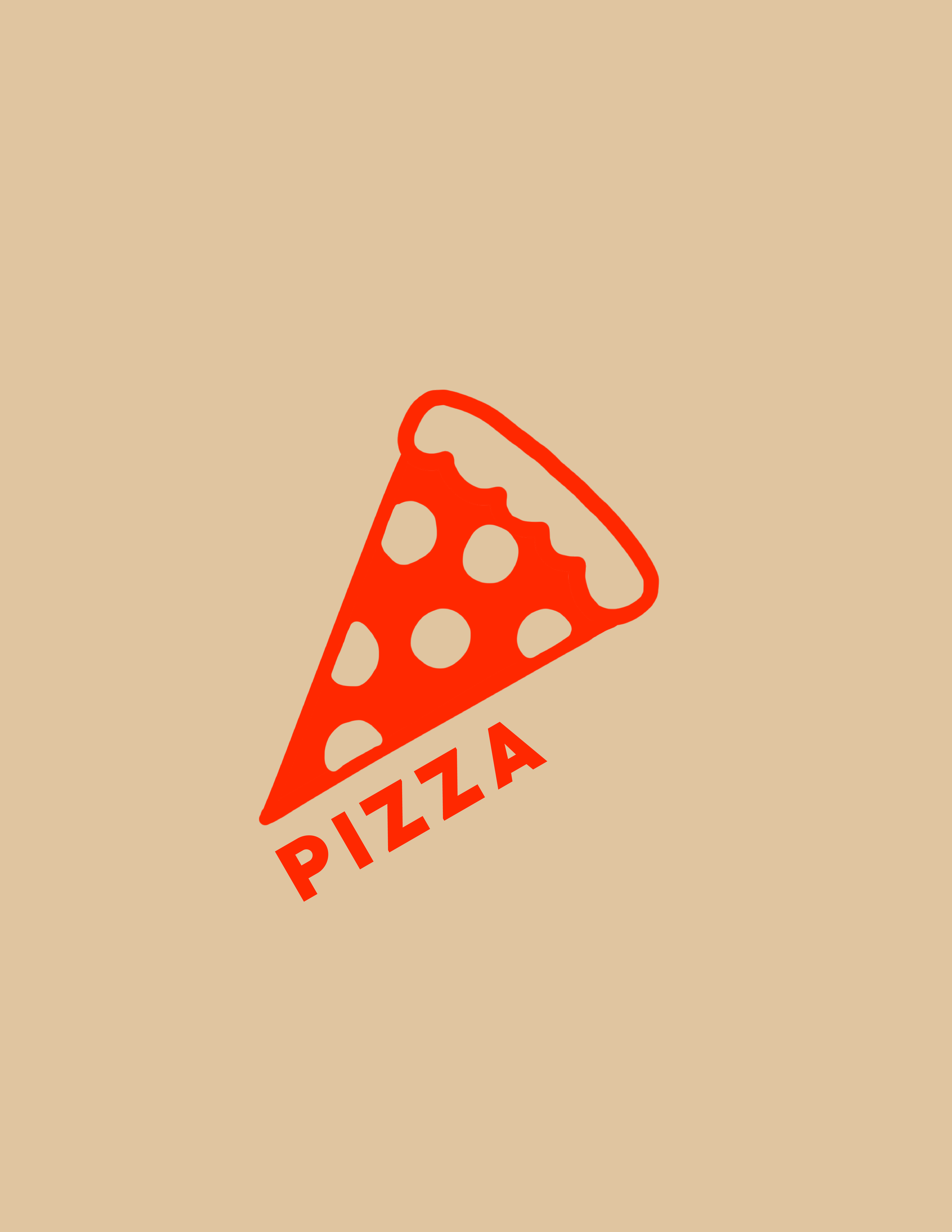 PIZZA - Digital Illustration