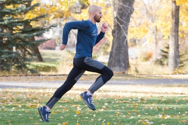 Gradually add strides to your easy & long runs to increase intensity in your training. Photo by Peter Collins.