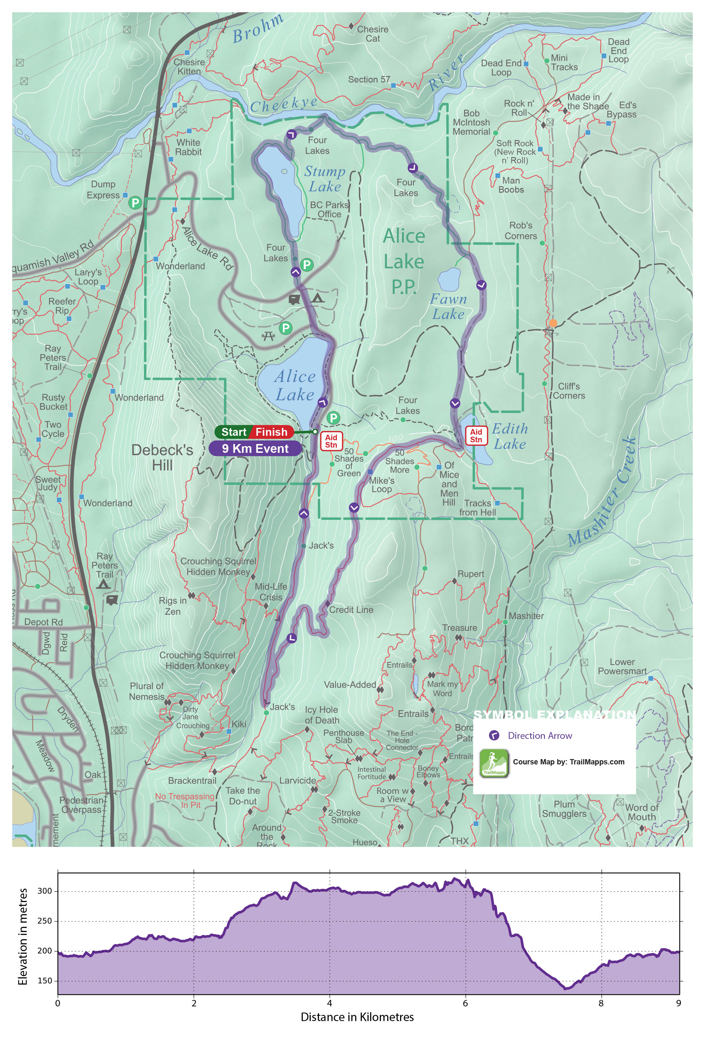Alice Lake Sport Map - Click to enlarge