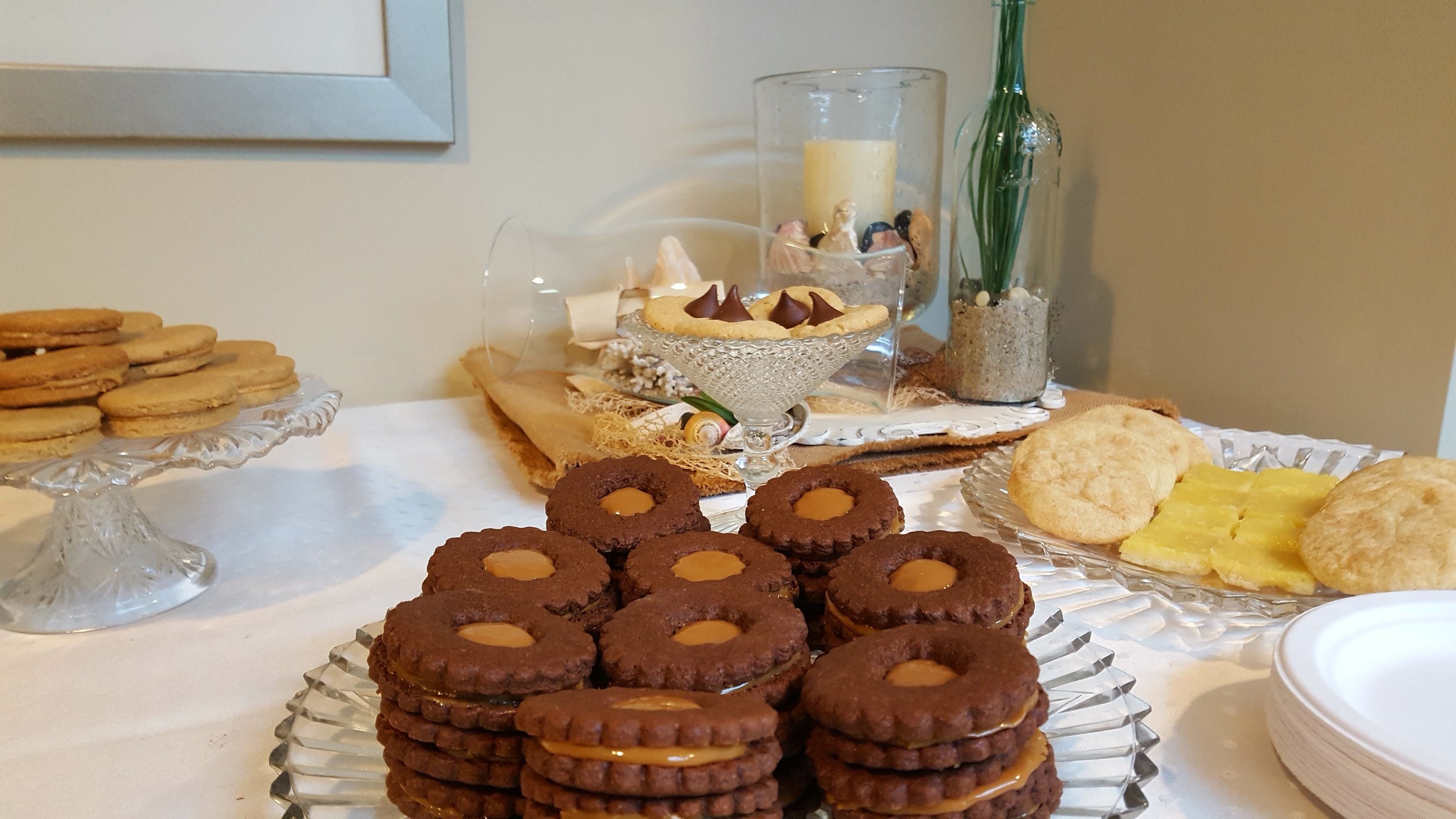 Plates of Cookies for our Guests at the Tea.