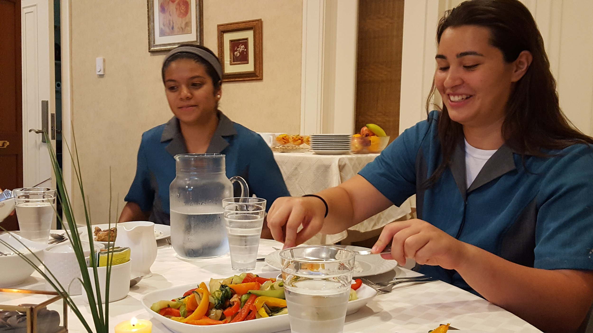 Bentleigh and Ashley enjoy the fruits of their labor!