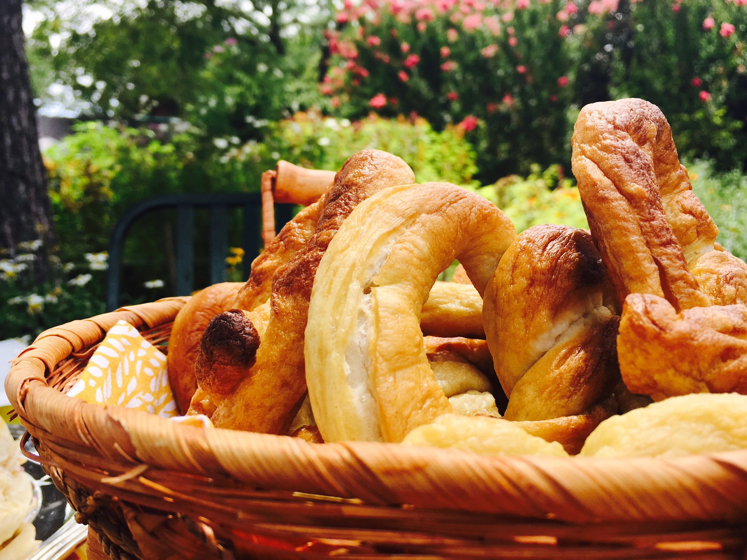 A Basket of Home cooked pretzels
